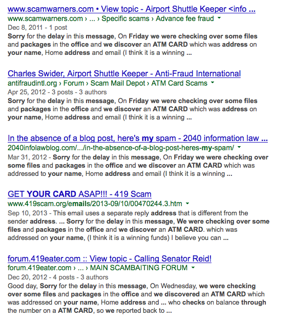 2-Found Your ATM Card Google search