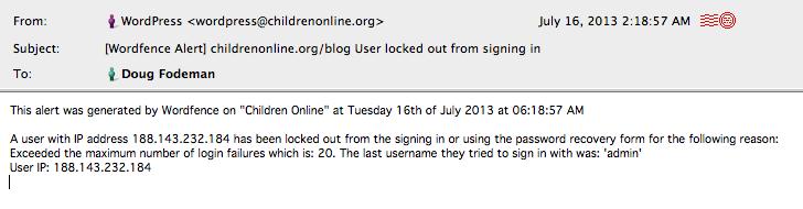 3-IP lock out at ChOn
