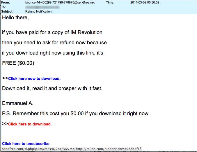 11-redirect - Refund notification