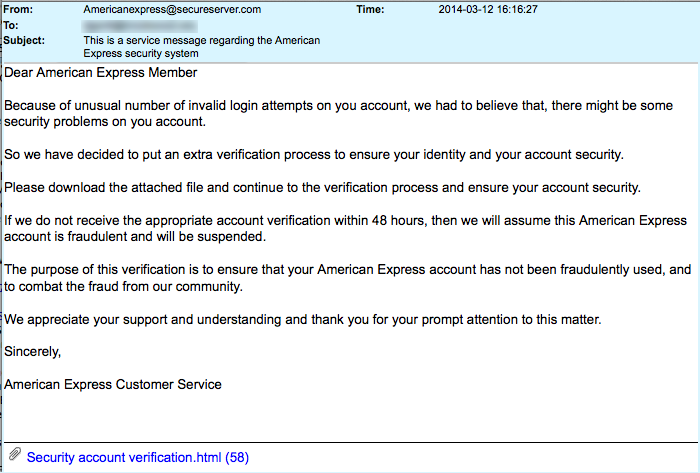 American Express Security