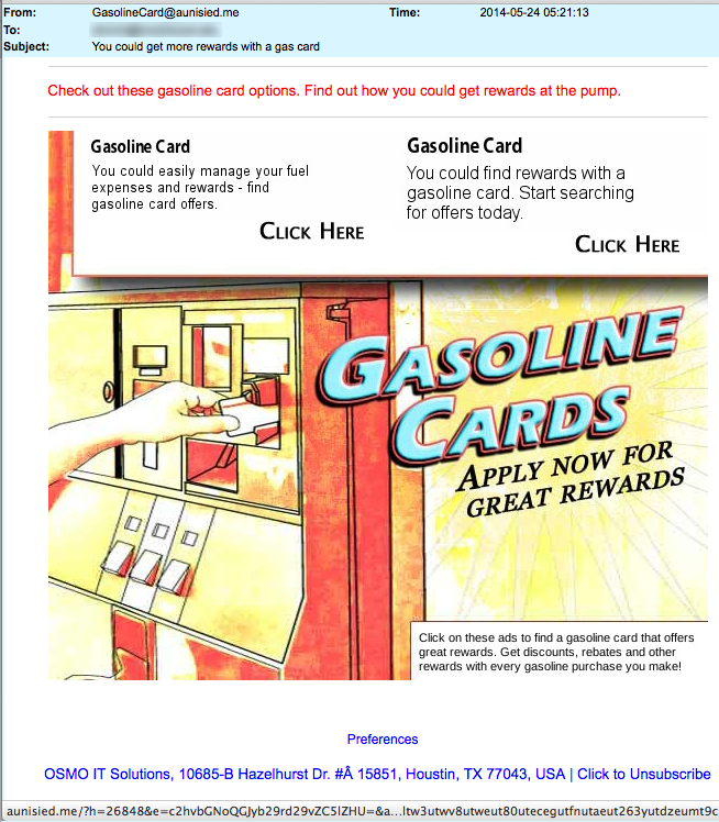 Gasoline Rewards Card