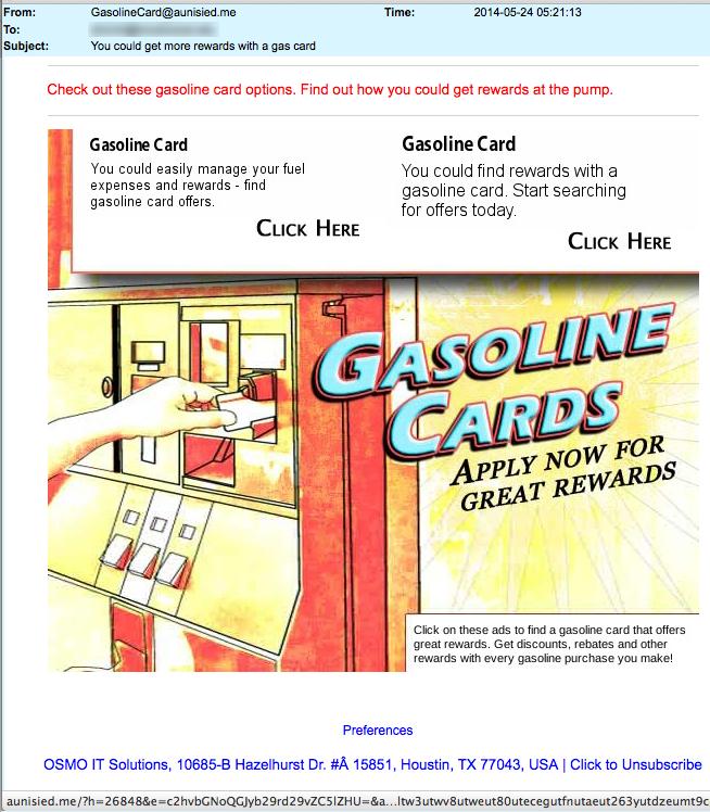 Gasoline Rewards Card